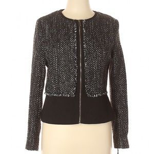 NWT IVANKA TRUMP Tweed Zipper Front Career Blazer